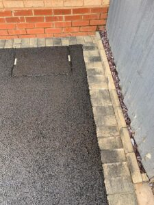 Tarmac Driveway in Solihull with block border