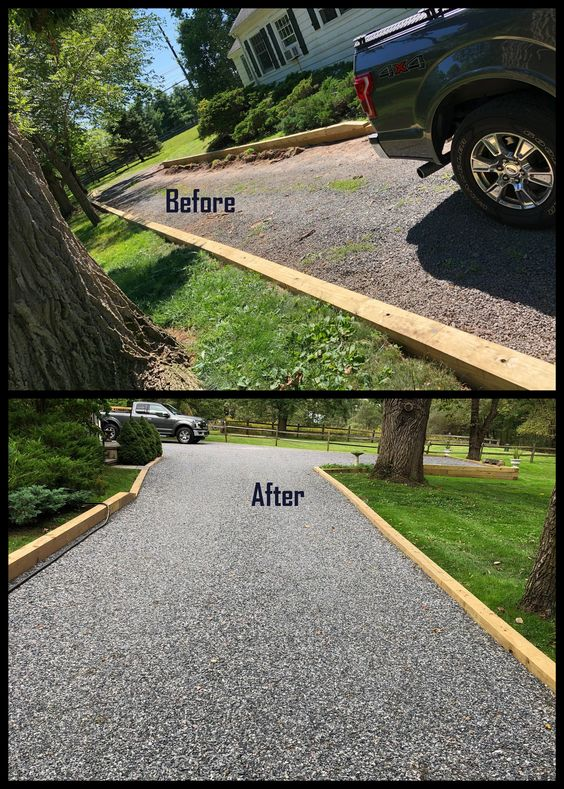 gravel driveway as a type of driveway material