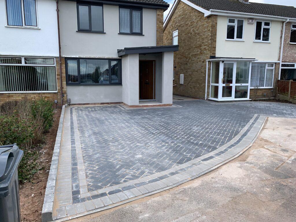 Block paving driveway kings norton