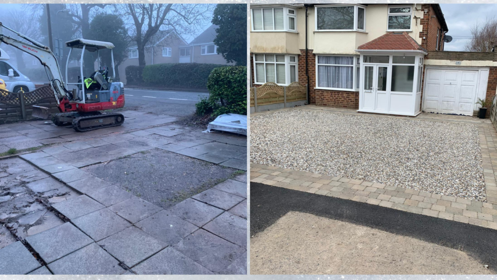 Gravel driveway in Wythall