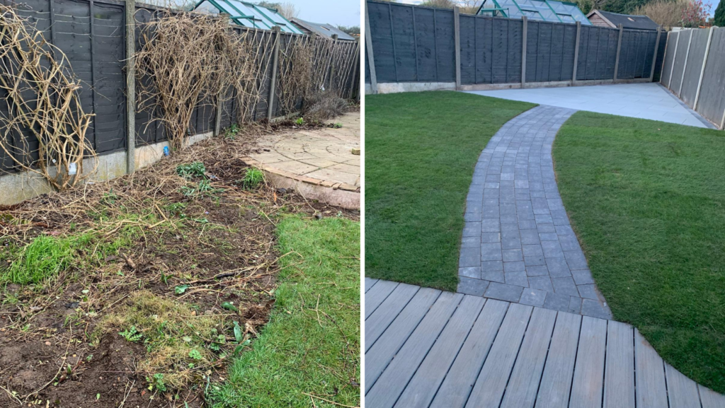 Patio and landscaping Wythall