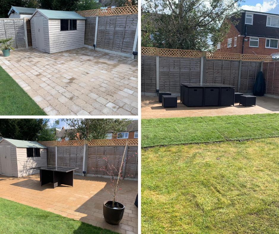 Patio and landscaping in Wythall
