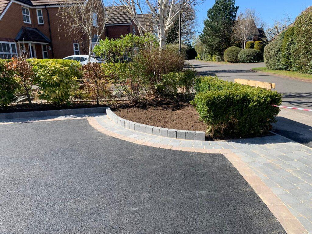 Tarmac driveway with block paving in Dorridge