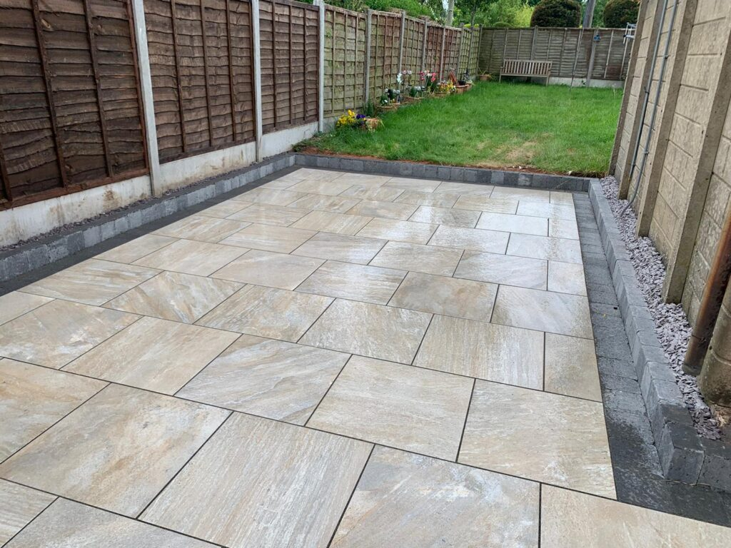 Porcelain patio in Wythall