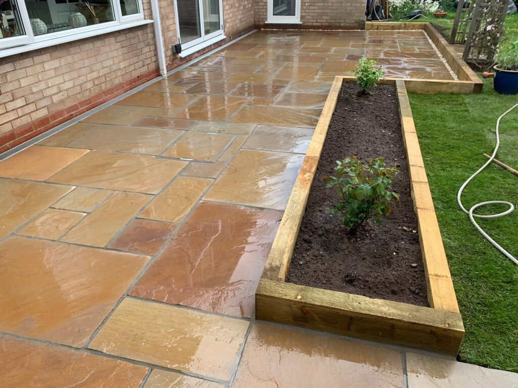 Raised Sleeper beds and garden landscaping