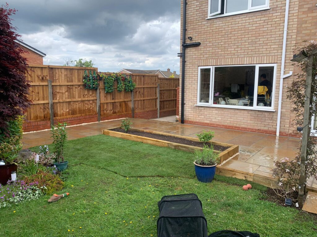 Raised Sleeper beds - landscaping Solihull
