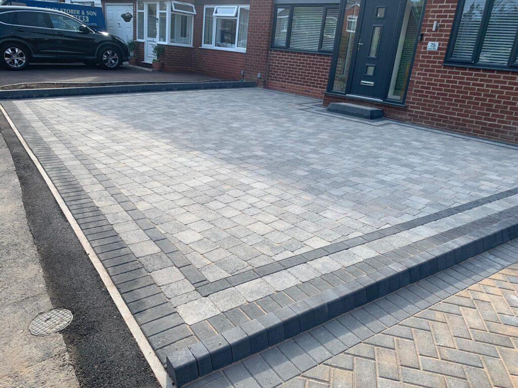 Grey Block paving driveway