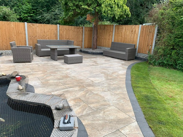 Landscaping in Wythall Natural Stone Patio in Wythall