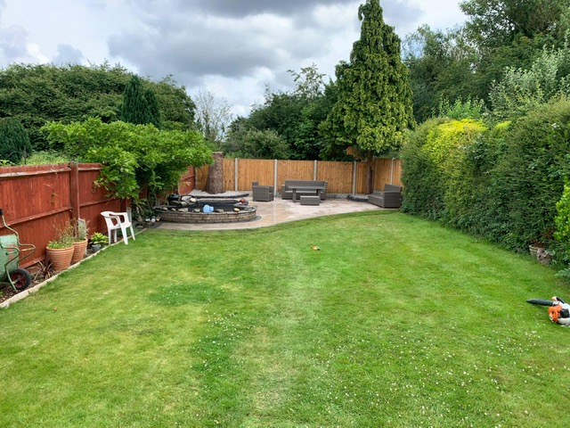 Finished landscaping project in Wythall
