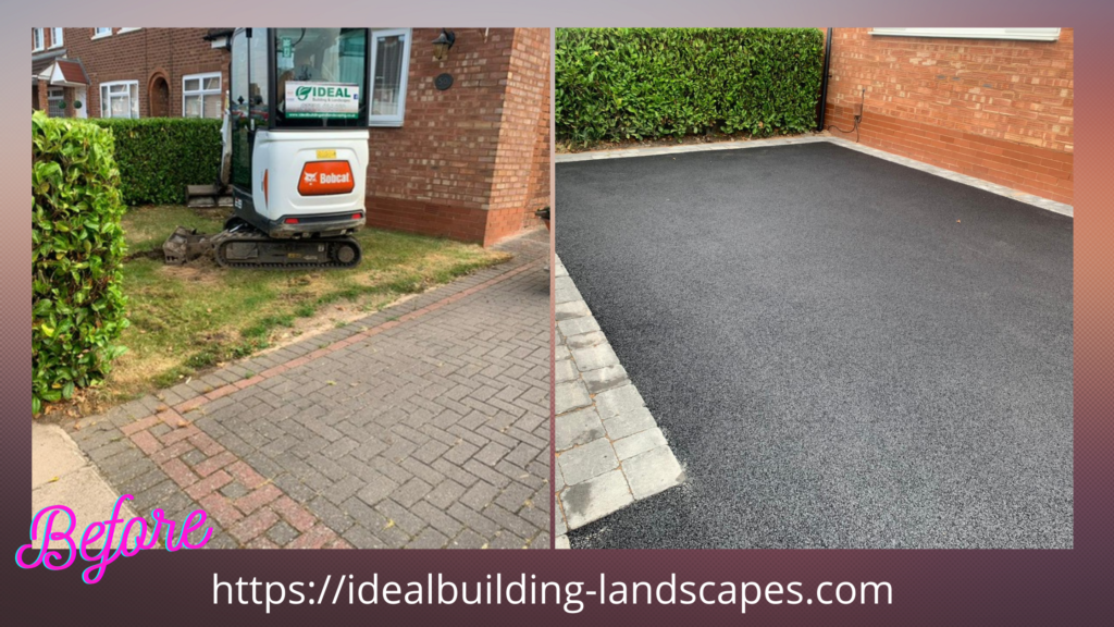 before and after driveway tarmac