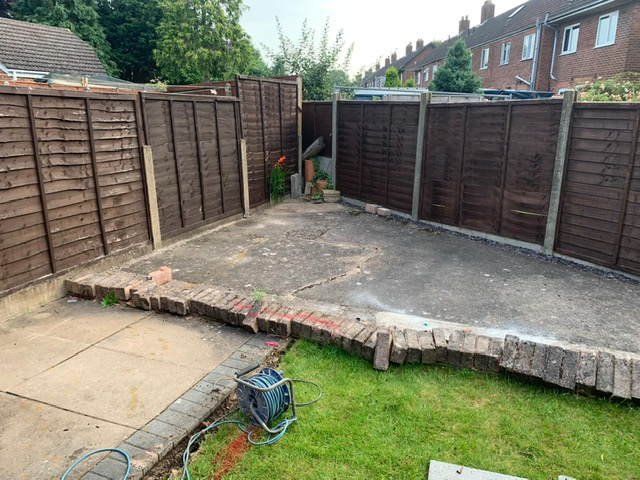 old patio slabs
