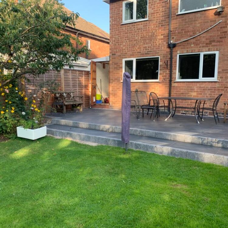 New Porcelain Patio in Shirley, Solihull